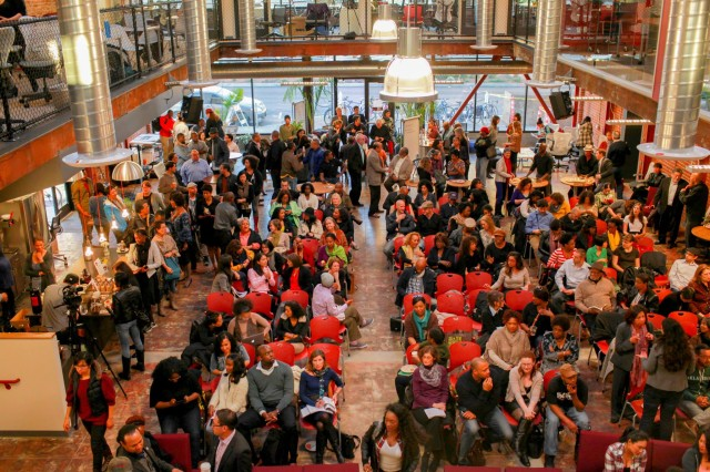 A packed house at Oakland Reconstructed. Photo by