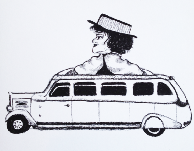 Eliza Doolittle in a limo.