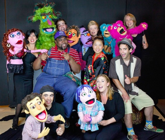 Cast of Avenue Q at Novato Theater