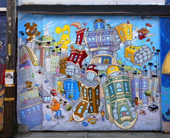 Sirron Norris's Balmy Alley mural.